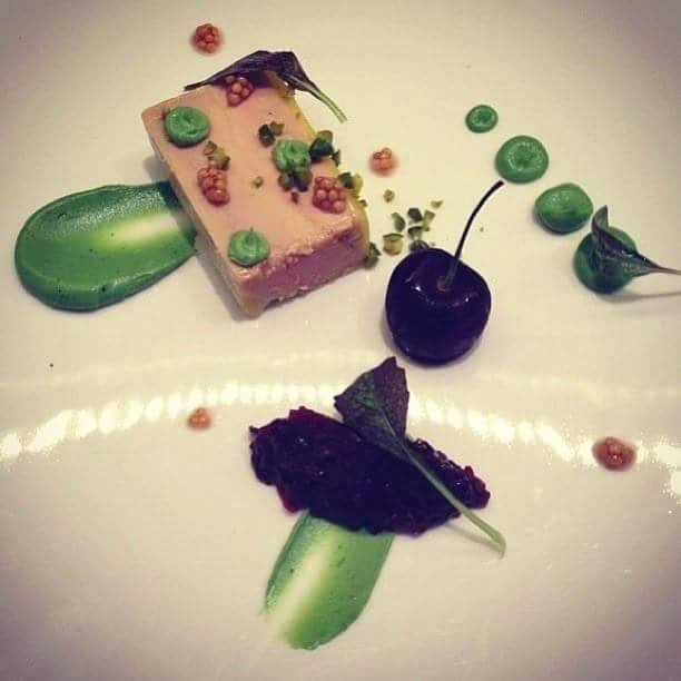 Mix Meat Pate With Sherry Pea Puree