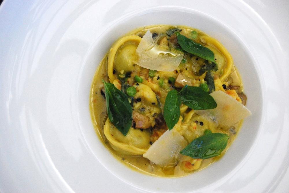Prawn Tortellini With Green Peas & Sage Butter