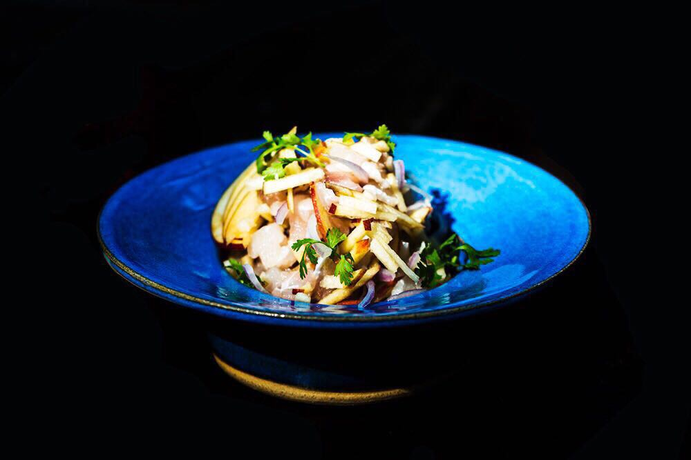 Red snapper and apple ceviche