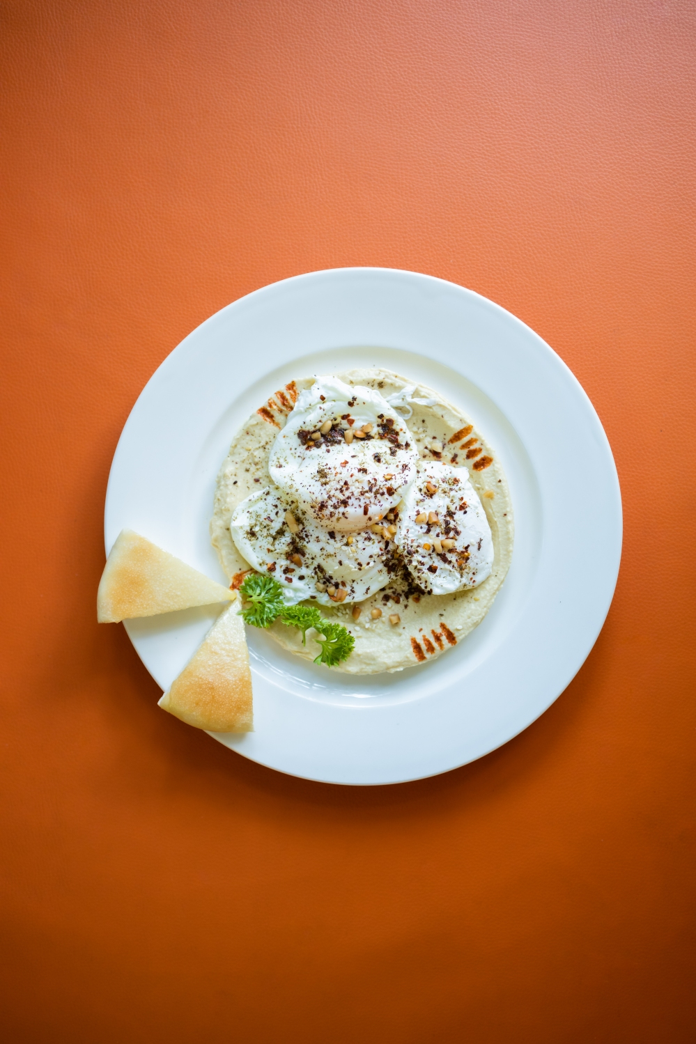 Poched Eggs with Hummus